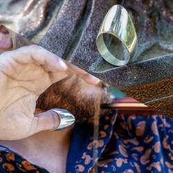 925 Ayar Gümüş Başparmak Okçu Yüzüğü