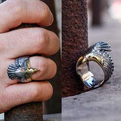 925 Ayar Kartal Model Gümüş Yüzük