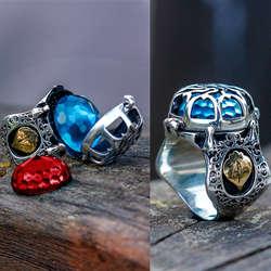 ALA Serisi | Gökkafes Tasarım Üç Farklı Renk 925 Ayar Gümüş Yüzük