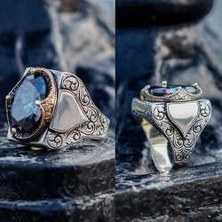 ALA Serisi | Mistik Topaz Taşlı Özel Tasarım Gümüş Yüzük