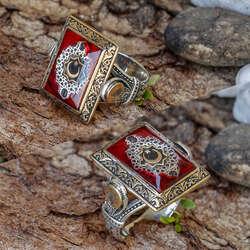 Ala Serisi-Özel Tasarım Ayyıldız Gümüş Yüzük