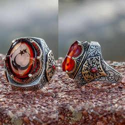 ALA Serisi | Özel Tasarım Ayyıldız Gümüş Yüzük