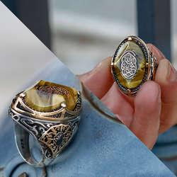 ALA Serisi | Özel Tasarım Katalin Taşlı Gümüş Yüzük