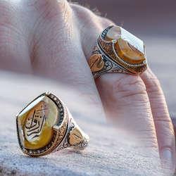 ALA Serisi | Özel Tasarım Katalin Üzerine El Rezzak Gümüş Yüzük