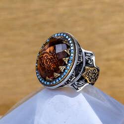 Ala Serisi-Sultan Taşlı Özel Tasarım Gümüş Yüzük