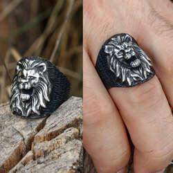 Aslan Kral 925 Ayar Gümüş Yüzük