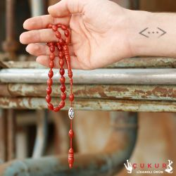 ÇUKUR | Eskitme Sıkma Kehribar Tesbih