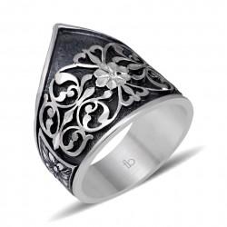 Erzurum El İşi Gümüş Zihgir Yüzüğü