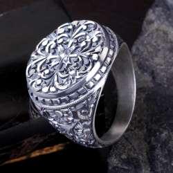 Erzurum Kalemkar İşlemeli Gümüş Yüzük
