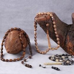 İşlemeli Kuka - Koç Boynuzu - Pelesenk Tesbih Üçlü Set