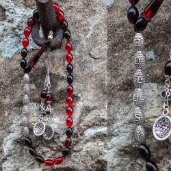 İsme Özel Gümüş Tasarım Kızıl Sıkma Kehribar Tesbih