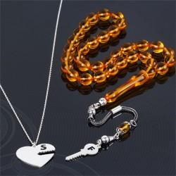 Kalbimin Anahtarı Gümüş Sevgili Kombini