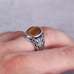Kaplangözü Taşlı 925 Ayar Gümüş Yüzük