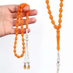 Kazaz Kamçılı Portakal Sıkma Kehribar Tesbih
