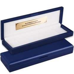 Kişiye Özel Mavi Ahşap Kutulu Premium Paketleme