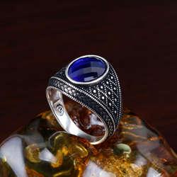 Mavi Taşlı 925 Ayar Gümüş Yüzük