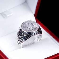 Mühr-ü Süleyman 925 Ayar Gümüş Yüzük