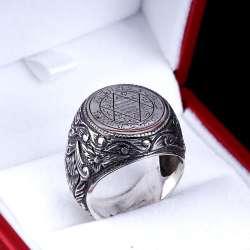 Mührü Süleyman Gümüş Yüzük