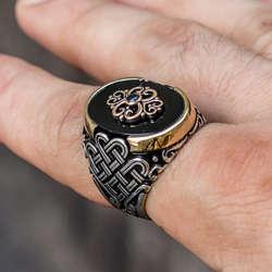 Oniks Taşlı 925 Ayar Gümüş Yüzük