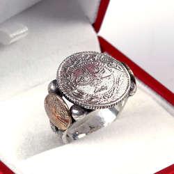 Osmanlı Parası 925 Ayar Gümüş Yüzük