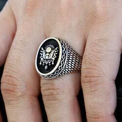 Osmanlı Sancağı 925 Ayar Gümüş Yüzük