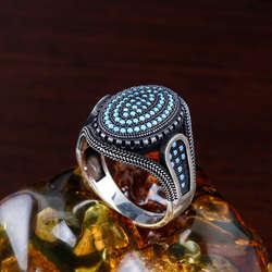 Osmanlı Tasarım Taşlı 925 Ayar Gümüş Yüzük