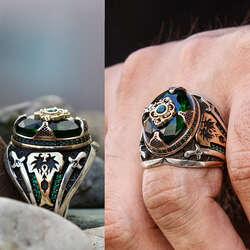 Özel Tasarım 925 Ayar Gümüş Sultan Yüzüğü