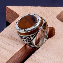Özel Tasarım Kaplangözü 925 Ayar Gümüş Yüzük
