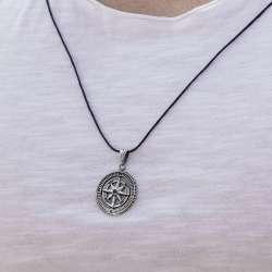 Pusula 925 Ayar Gümüş Kolye
