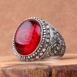 Tuğra İşlemeli Erzurum El İşi Padişah Yüzüğü