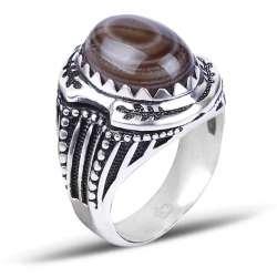 Yemen Akik Taşlı Gümüş Yüzük