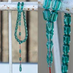 Yeni Tasarım Kapsül Kesim Su Yeşili Sıkma Kehribar Tesbih